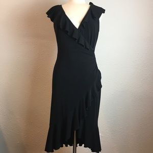LIKE NEW! Laundry ruffled Little Black Dress